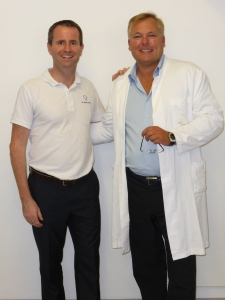 Dr Perry with Professor Dirk Wiechmann, the inventor of both the WIN system and incognito lingual braces.